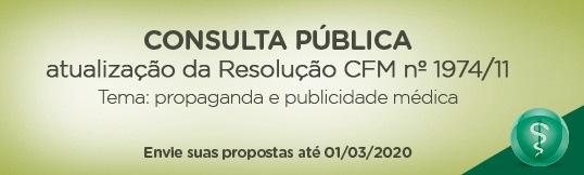 CFM realiza consulta pública sobre publicidade médica até o início de março